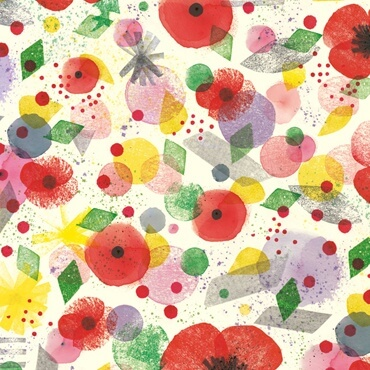 Poppy Endpapers