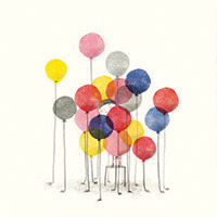 Heidi and balloons